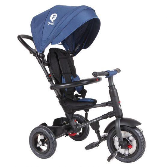 Zložljiv tricikel QPLAY RITO AIR – moder