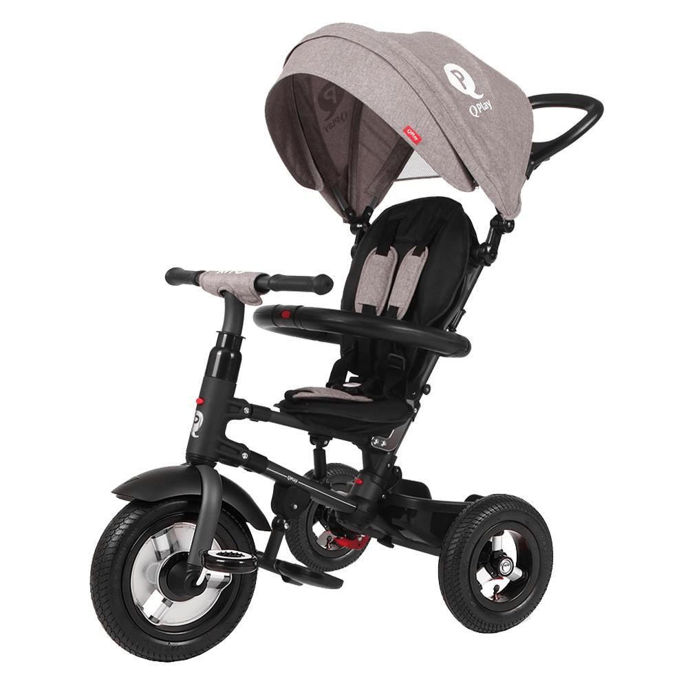 Zložljiv tricikel Q PLAY RITO AIR – siv