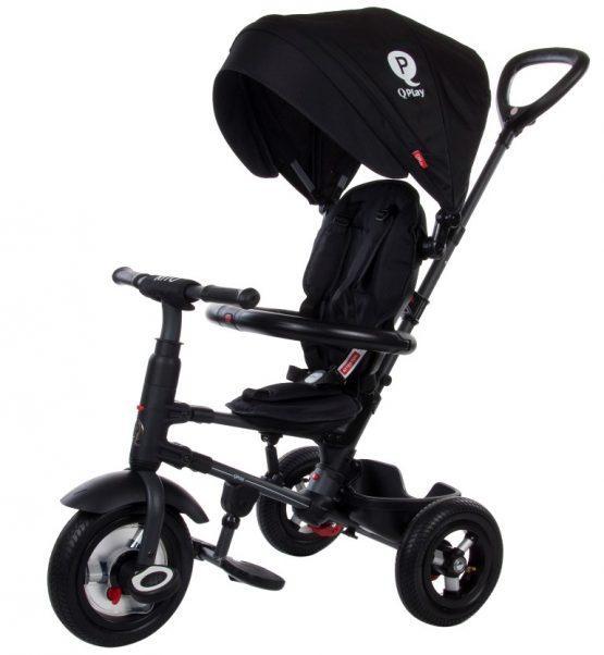 Zložljiv tricikel Q PLAY RITO AIR – črn