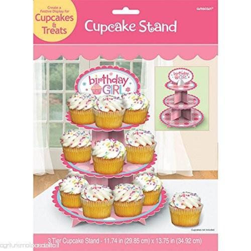 AMSCAN International Espositore per cupcake per compleanno per bambina B0050ZIBJC-500x500_0