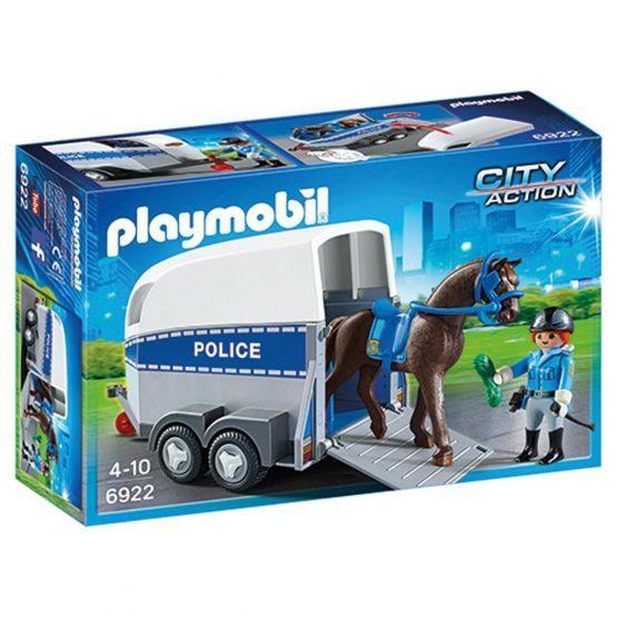 Playmobil 6922, policist s konjem in prikolico