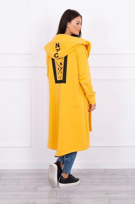 Ženski plašč OVERSIZE, rumen