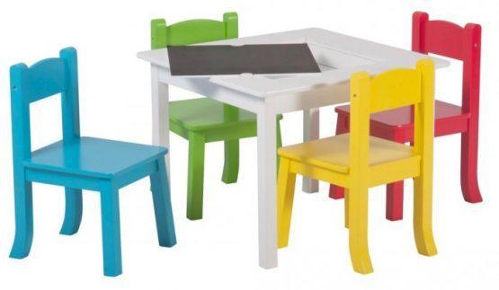 Set miza + stolčki, RAINBOW