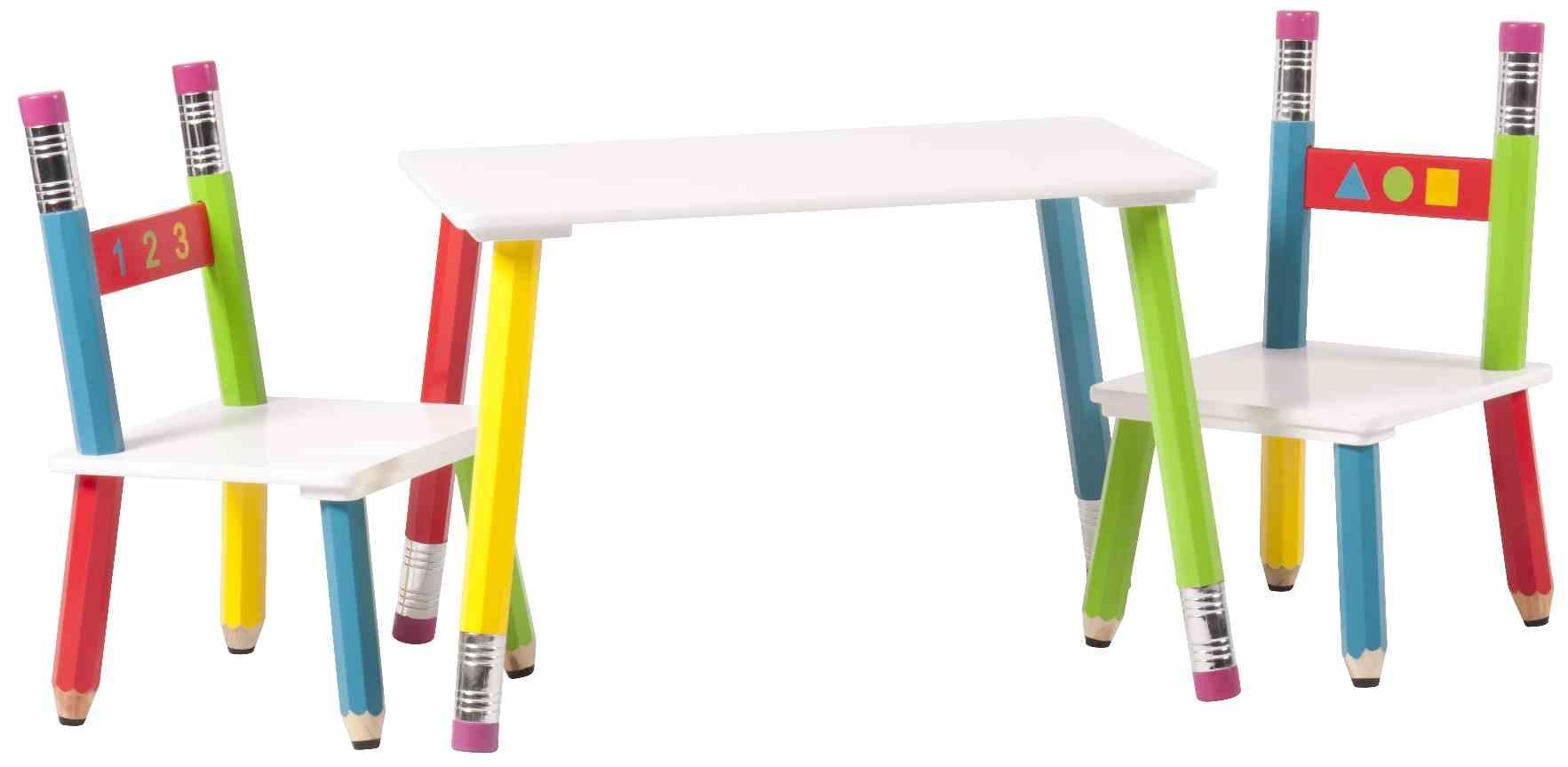 Set miza + stolčki, PENCILS
