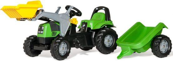 Traktor na pedala Deutz, s prikolico in nakladačem