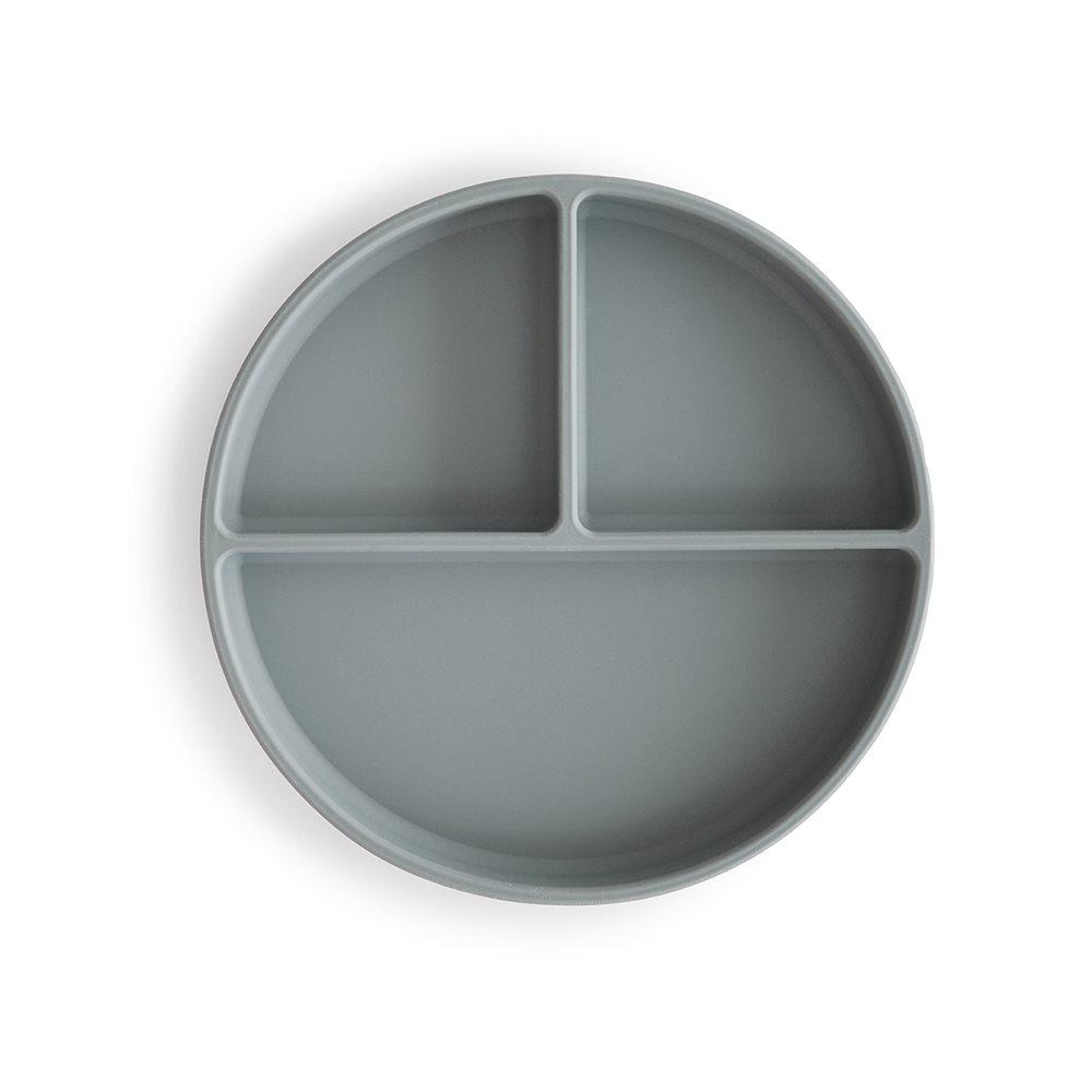 MUSHIE silikonski deljeni krožnik, SMOKE
