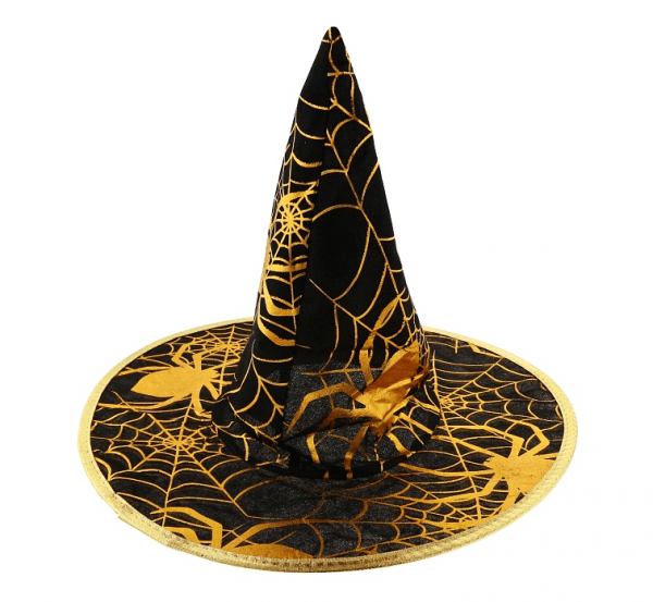 Klobuk za čarovnico ZLATI PAJEK