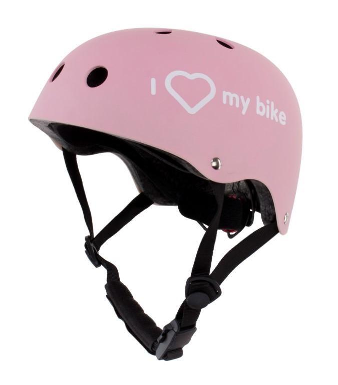 Otroška čelada I LOVE MY BIKE, roza