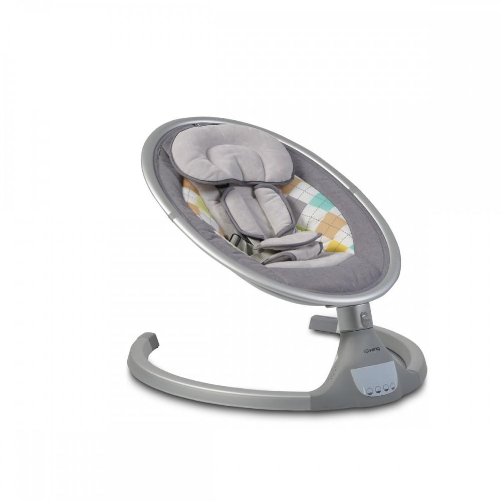 Gugalnik za dojenčka iSwing, siv