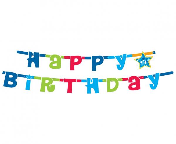 Dekorativni napis HAPPY BIRTHDAY, pisan