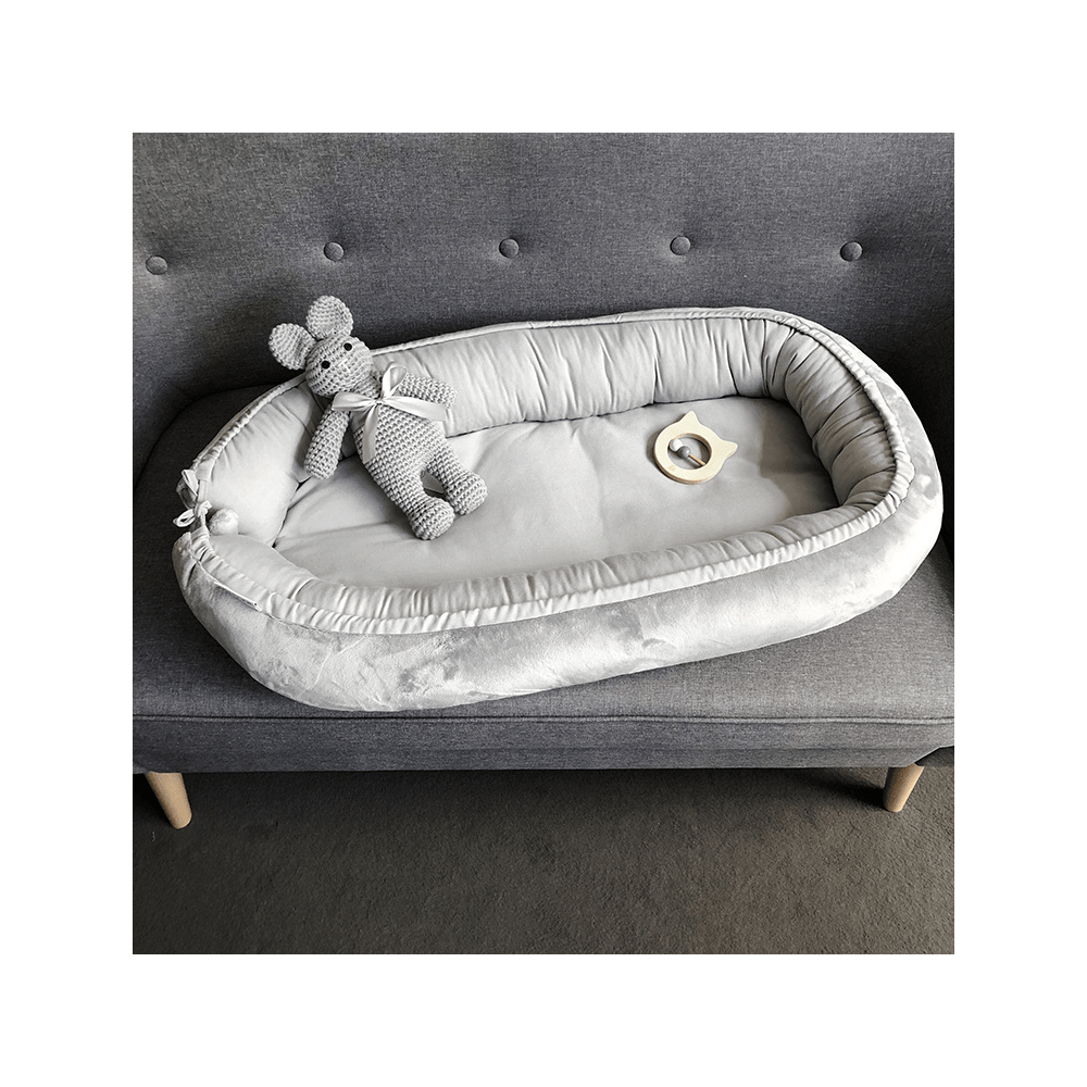 Gnezdo za dojenčka MAYLILY, grey