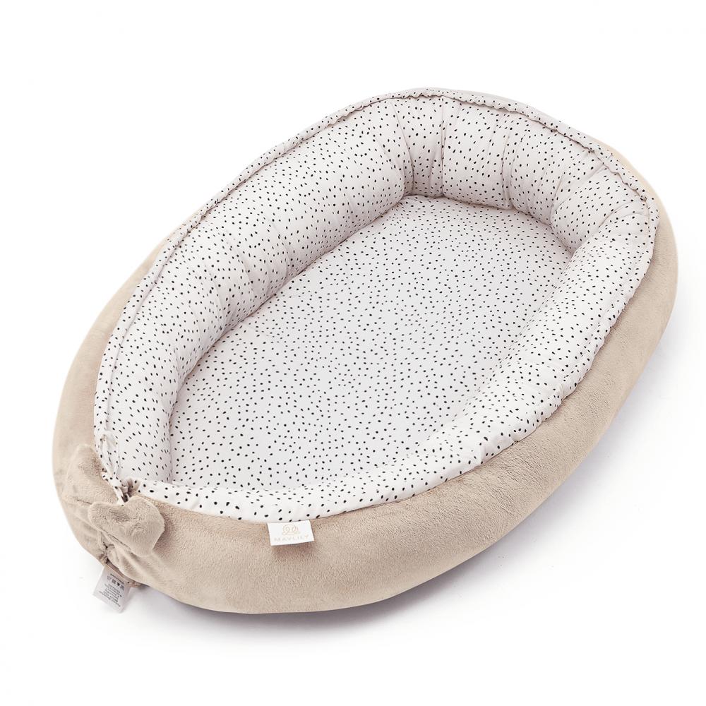 Gnezdo za dojenčka MAYLILY, beige stones