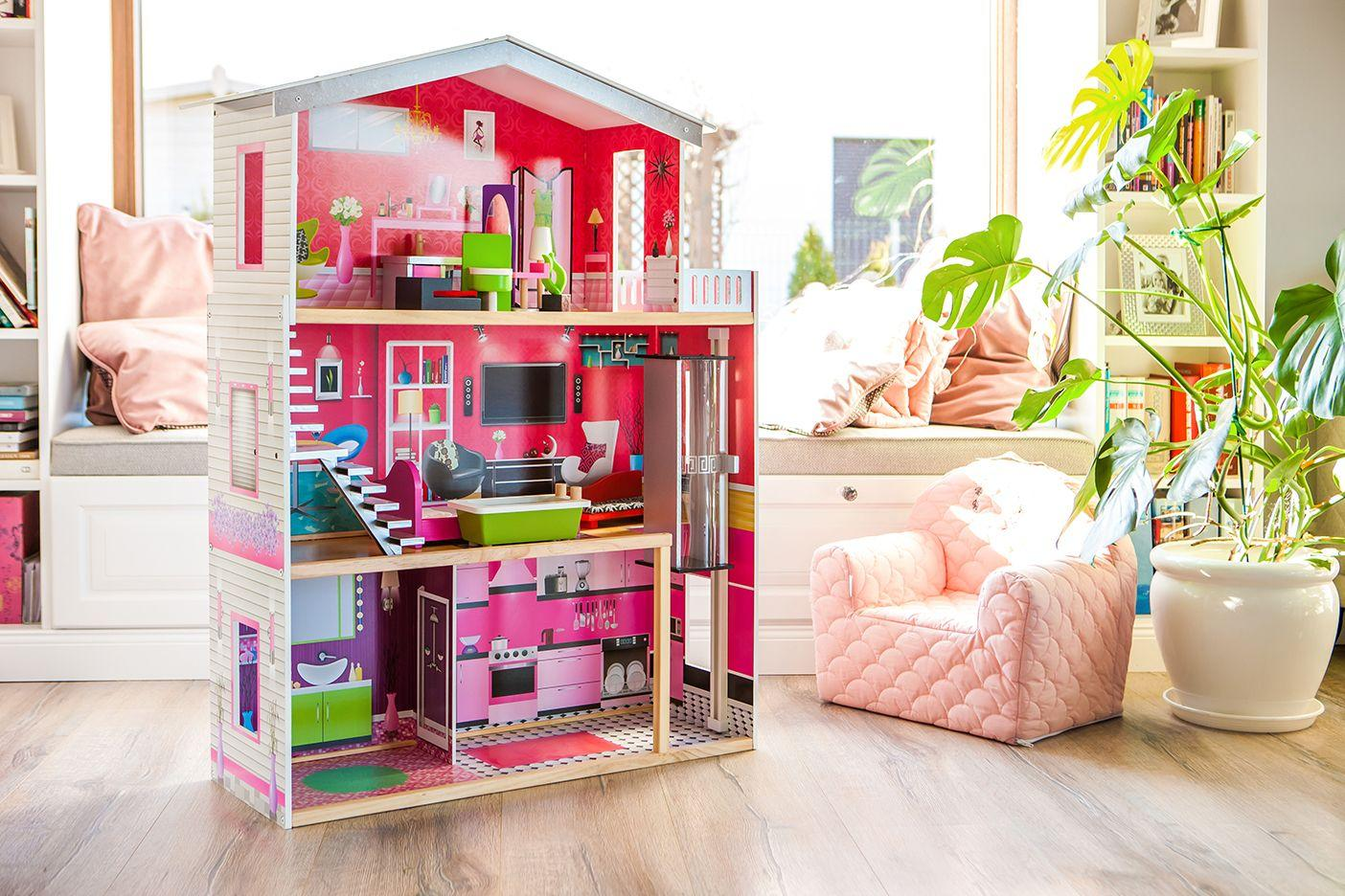 Lesena hiška za punčke ISABELLA
