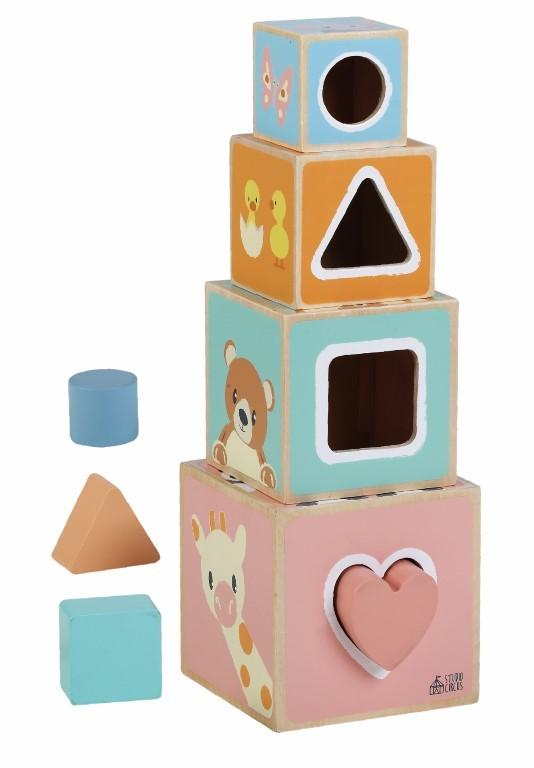 Lesena piramida PASTEL
