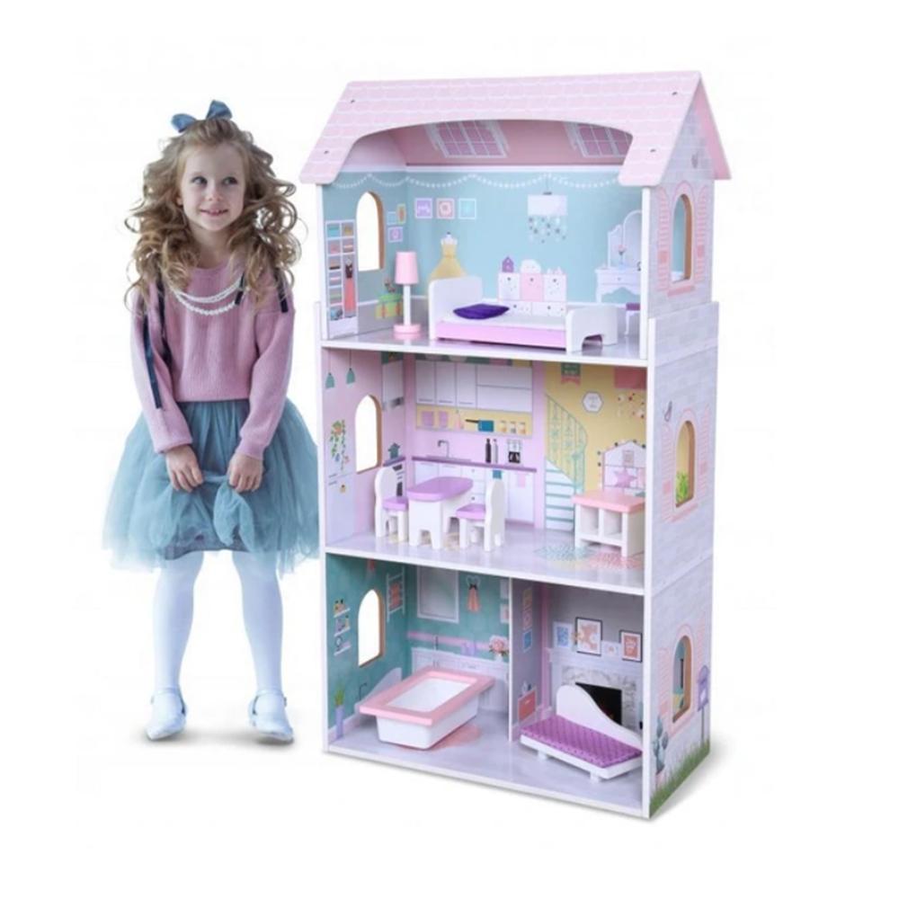 Lesena hiška za punčke ANNA PASTEL