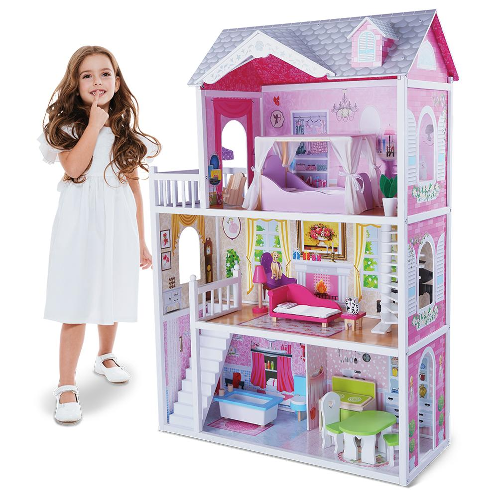Lesena hiška za punčke ARIA